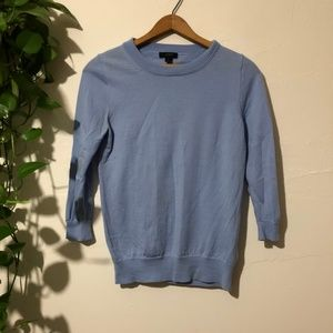 J. Crew 100% Merino Wool Tippi Sweater Light Blue